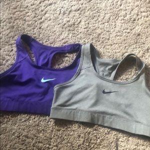 set or 2 Dri Fit Nike Sports Bras
